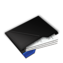Blue, Documents, Inside, My icon