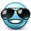 emot, smiley, sunglasses, smiley face, summer, cool icon
