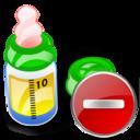 bottle, del, delete, feeding, remove icon