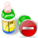 Bottle, Delete, Feeding icon
