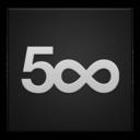 500px,frameless icon