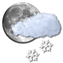 snow, moon, light icon