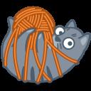 cat tied icon