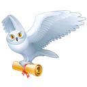 harry potter, animal, fly, mail, owl, bird, hedwig icon