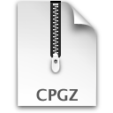compressed, cpgz, paper, document, file icon