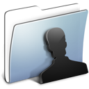 Folder, Graphite, Smooth, Users icon
