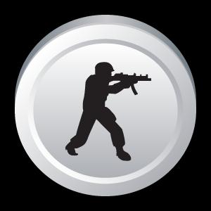 counter, badge, strike icon