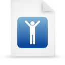 document, paper, file, blue icon