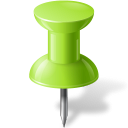 Chartreuse, Map, Marker, Pin, Push icon