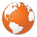 international, internet, earth, browser, global, planet, world, globe, orange icon
