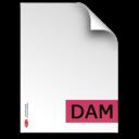 dam,fileextension icon