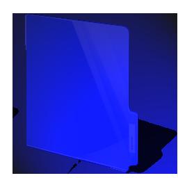 closed, blue, dark, folder icon