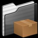 Download Folder black icon