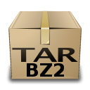 tar, mime, compressed, bzip icon