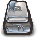 Books with bookmarks...tar tar tar icon