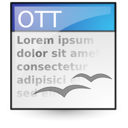 template, opendocument text icon