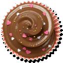 cupcake, brown, muffin, cake icon
