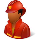 male, firefighter icon