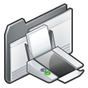 folder, print, printer icon