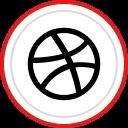 logo, social, brand, dribbble, media icon