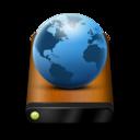Wood Drive Globe icon