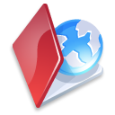 folder, red, web icon