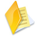 Folder documents yellow icon