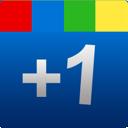google, one, +1, plus, blue, square icon