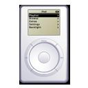 ipod, apple, white icon