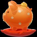 Orange, Piggybank icon