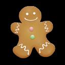 christmas cookie man icon