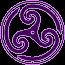 Purple Wheeled Triskelion 2 icon