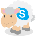 skype, sheep, social network icon