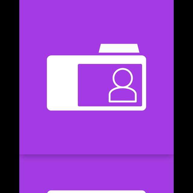 contact, folder, mirror icon