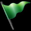flag,green icon