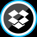 media, logo, dropbox, social, corporate icon