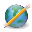 world, write, earth, browser, edit, cms, pencil icon