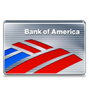 bank card, america, credit card, bank, of, credit icon
