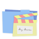 Blue, Folder, Movies icon