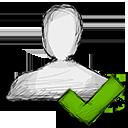 user, accept icon
