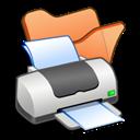 Folder, Orange, Printer icon