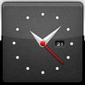 Black, Clock icon