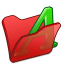 Folder red font1 icon