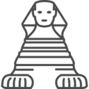 egypt,sphynx icon
