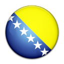 bosnia, flag, and, herzegovina, country icon