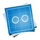 flickr, social, blueprint icon