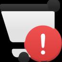shopping, cart, alert icon