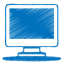 blue monitor icon