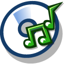 Cd rom audio icon