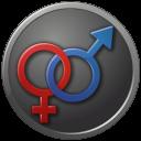 Circled, Female, Male, Sex icon